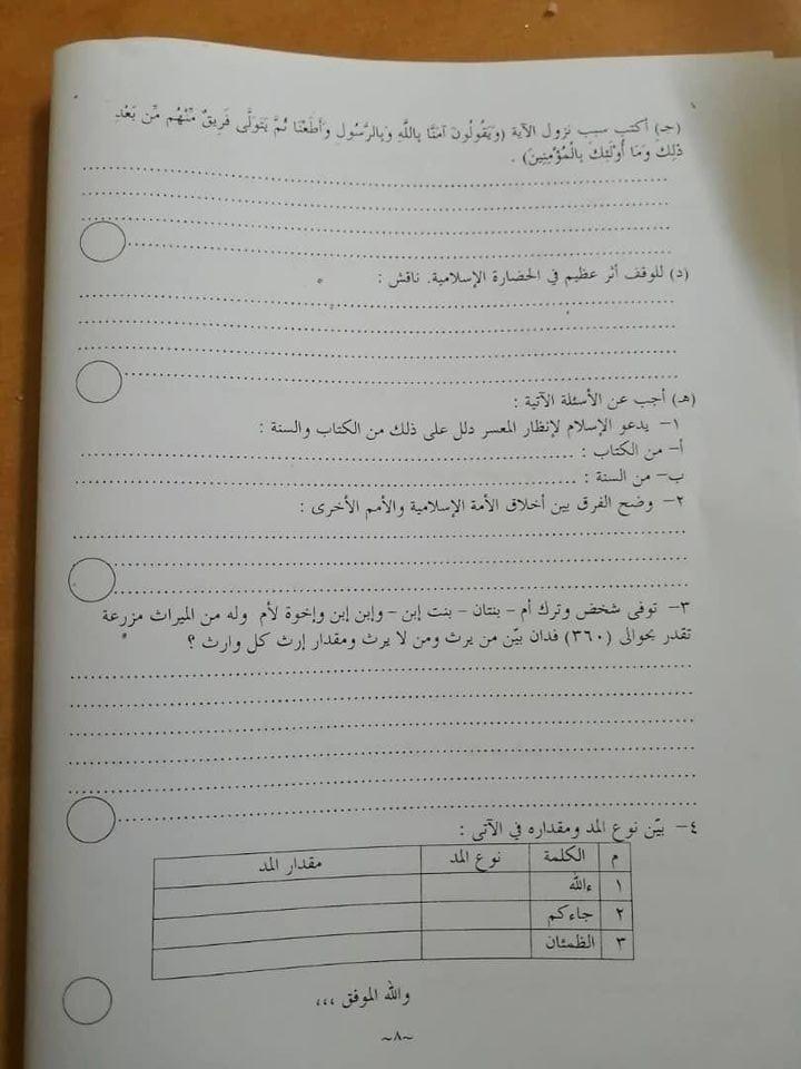 دليل امتحان الشهادة السودانية 2020